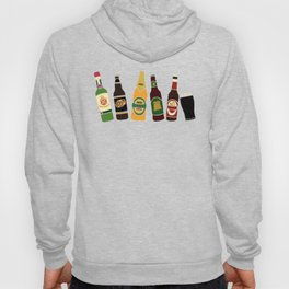 Alcohol Print of Beer, Cider and Gin Bottles Hoody