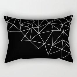 Ab Storm Black Rectangular Pillow