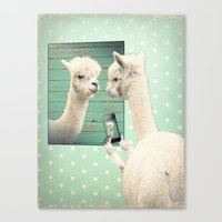 selfie Canvas Prints featuring SELFIE by Monika Strigel