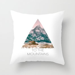 Grand Tetons Barn Throw Pillow