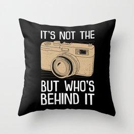 Gift for a Phantastic Photographer Throw Pillow