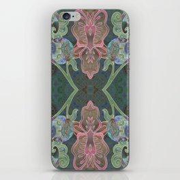 Elegant Detailed Orchid Meditation Pattern iPhone Skin