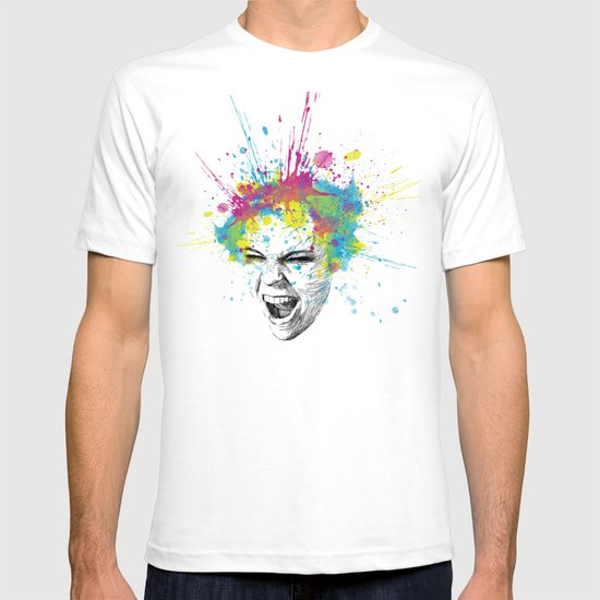 Crazy Colorful Scream T-shirt