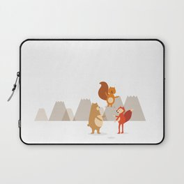 Team work in the mountains Laptop Sleeve