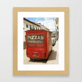 Pizzas, hamburguesas Framed Art Print