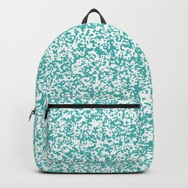 Tiny Spots - White and Verdigris Backpack