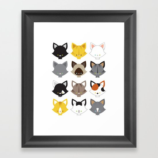 Cats, Cats, Cats Framed Art Print