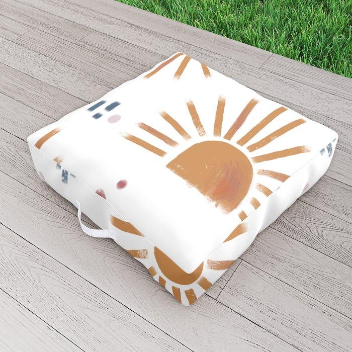 sunbursts Outdoor Floor Cushion