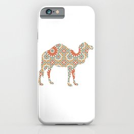 CAMEL SILHOUETTE WITH PATTERN iPhone Case