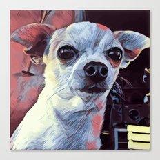 Pop Art portrait Bobby Dog Canvas Print