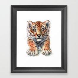 Playful Tiger Cub 907 Framed Art Print