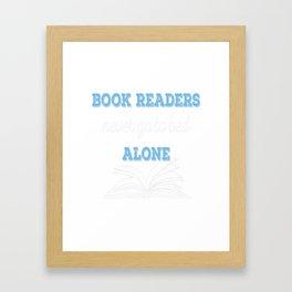 Book Reader Framed Art Print