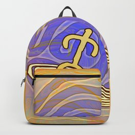 Surfer / Tribal Prints on Yellow Backpack