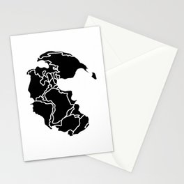 Pangaea Continent Stationery Cards