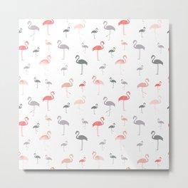 Flamingo Muted Tones Metal Print