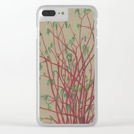 Red twigs Clear iPhone Case