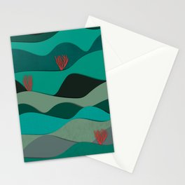 Layered Reef Stationery Cards