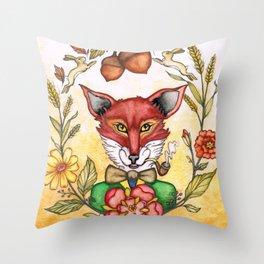 Professor Von Fox  Throw Pillow
