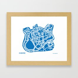 Chester Street Map Framed Art Print