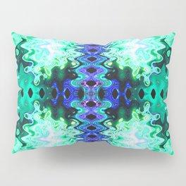 Green Blue Poof Abstract Pillow Sham