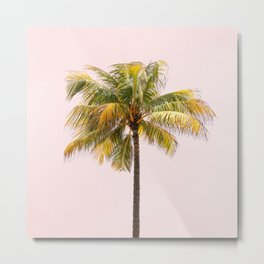Palm Tree Photography | Pink Sunrise | Summer Vibes | Landscape | Nature | Beach Metal Print
