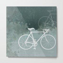 White Bikes Metal Print