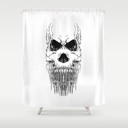 FULL FACE SKULL Shower Curtain
