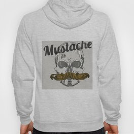 Mustache Skull (Large) Hoody