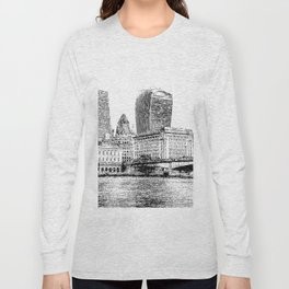 City of London Art Panorama Long Sleeve T-shirt