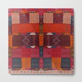 Oriental Moroccan Multicolore Rug Artwork Design D2 Metal Print