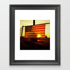 America's sunset Framed Art Print