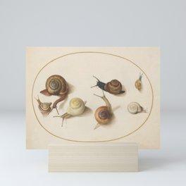 Naturalist Snails Mini Art Print