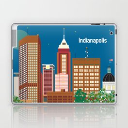 Indianapolis, Indiana - Skyline Illustration by Loose Petals Laptop & iPad Skin