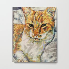 Ginger Tom Metal Print
