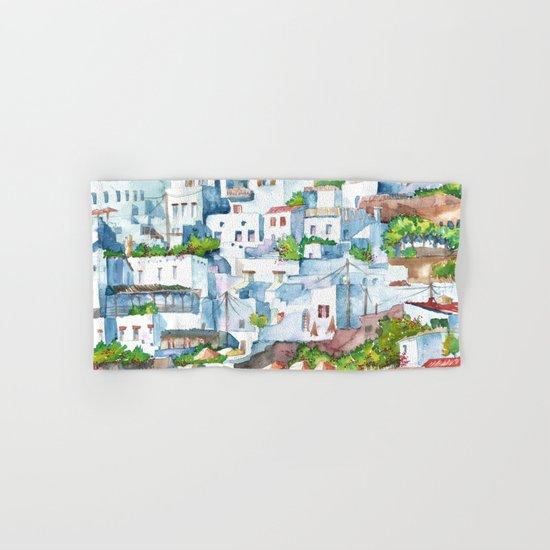 Panorama of Lindos Hand & Bath Towel