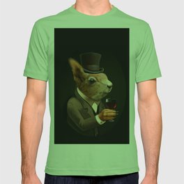 Sophisticated Pet -- Sqirrel in Top Hat with glass of wine T-shirt
