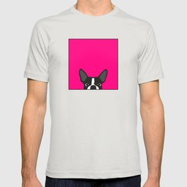 Boston Terrier Hot Pink T-shirt