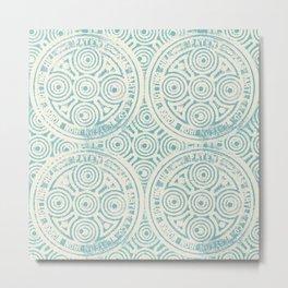 notting hill: aqua with cream Metal Print