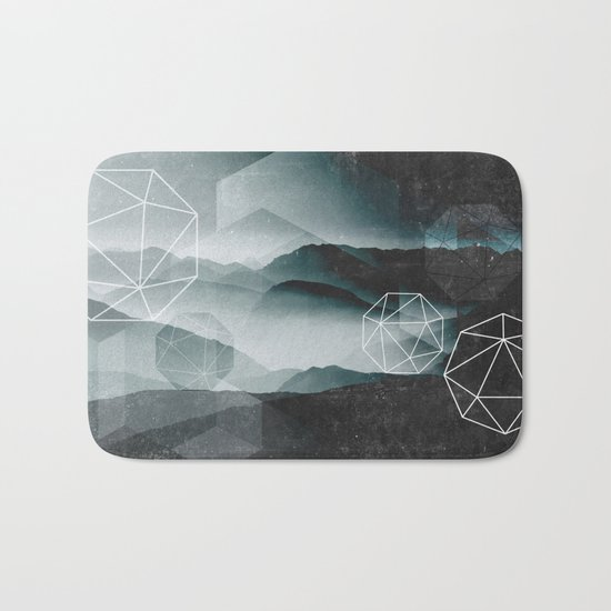 Winter Mountains Bath Mat