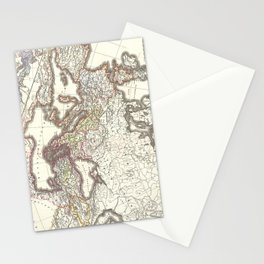Vintage Map of The Roman Empire (1865) Stationery Cards
