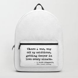 Deeper in love - F Scott Fitzgerald Backpack