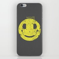 springsteen iPhone & iPod Skins featuring Music Smile V2 by Sitchko Igor