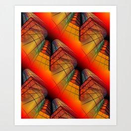 3D - abstraction -63- Art Print