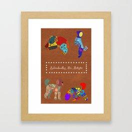 Labradoodles Are Artistic Framed Art Print