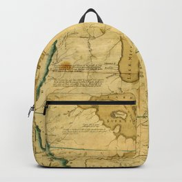 Map Of Great Lakes 1785 Backpack