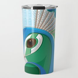 Stately Peacock Travel Mug