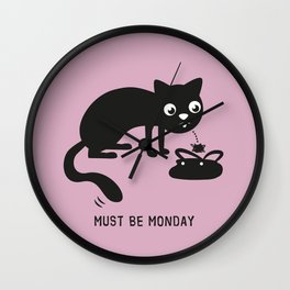 Must Be Monday, Cat Wall Clock