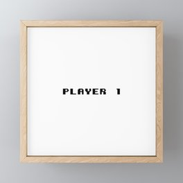 Player 1 Framed Mini Art Print