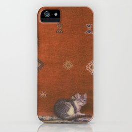 Cat on a Rug iPhone Case