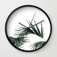 palms Wall Clocks featuring Palms by Rachel De Vita